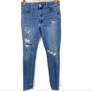 American Eagle Distressed High Rise Jegging Jeans